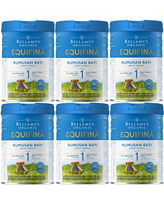 Bellamy's Organic Infant Formula (Step 1) EQUIFINA 900g X 6 TINS (Special combo deal) - 20% OFF!!