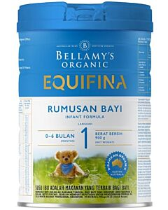 Bellamy's Organic Infant Formula (Step 1) EQUIFINA 900g - 17% OFF!!
