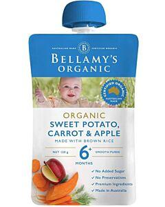Bellamy's: Organic Sweet Potato Carrot & Apple 90g (Ready to serve)