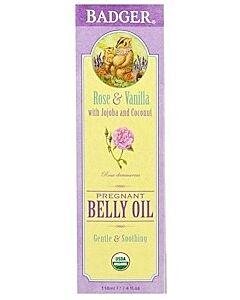 Badger: Organic Pregnant Belly Oil (Rose & Vanilla) 118ml - 10% OFF!