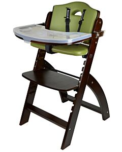 Abiie Beyond Y High Chair - Mahogany + Olive