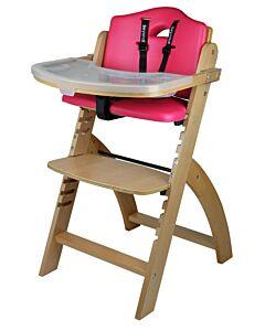 Abiie Beyond Y High Chair - Natural + Raspberry