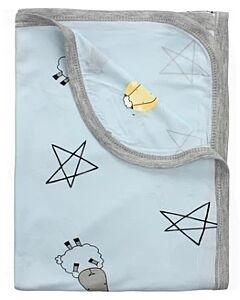 Baa Baa Sheepz: Single Layer Blanket Big Star & Sheepz (Blue) - 10% OFF!!