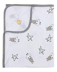 Baa Baa Sheepz: Single Layer Blanket Big Star & Sheepz (White) - 10% OFF!!