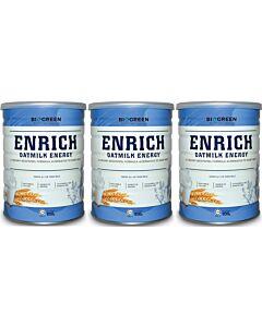 BIOGREEN Enrich Oatmilk Energy 3 x 850g (3 TINS COMBO) - 14% OFF!!
