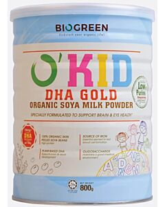 BIOGREEN O'Kid DHA Gold Organic Soymilk Powder (HALAL) 800g - 12% OFF!!