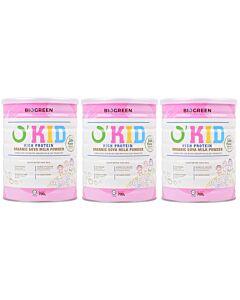 BIOGREEN O'Kid High Protein Organic Soya Milk (HALAL) 3 x 700g (3 TINS COMBO) - 17% OFF!!