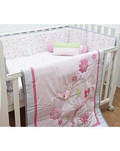 Happy Cot: Bedding Set - Birds Of Pink - 10% OFF!!