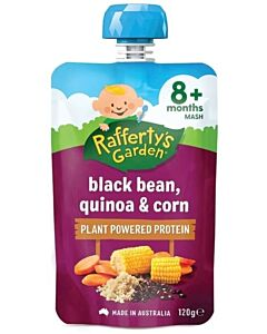 Rafferty's Garden: Black Bean, Quinoa & Corn 120g (8+ Months) - 14% OFF!!