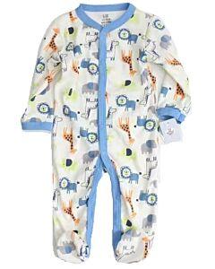 Earth Bebe: Onesie Pyjamas - Blue Animals (0 - 3 Months) - 20% OFF!!