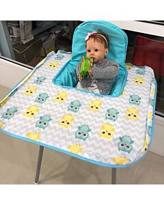 Poppy Seat: Pop-Up High Chair Cover - Blue Owl - 20% OFF!!