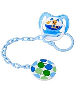 Dr. Brown's: Pacifier Teether/Clip (All Plastic) - Blue - 20% OFF!!