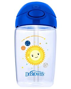 Dr. Brown's: Straw Cup 12oz/350ml - Blue Planets - 20% OFF!!