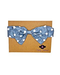 Baby Island Headband - Blue Polka - 10% OFF!