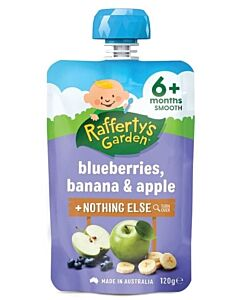 Rafferty's Garden: Blueberries, Banana & Apple 120g (6+ Months) - 23% OFF!!