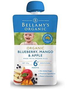 Bellamy's: Organic Mango, Blueberry & Apple 90g (Ready to serve)