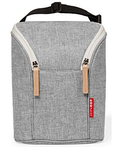 Skip Hop Grab & Go Double Bottle Bag - Grey Melange - 15% OFF!!