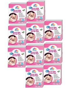 Bubbles: Thermal Sensor Double Ziplock Breastmilk Storage Bags 12oz (25pcs) (350ml x 25 bags) (10 BOX BUNDLE) - 57% OFF!!