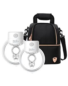 Milky Monsters: Wearable Breast Pump S12 (24mm) *Double* + FREE! Princeton Double Layer Cooler Bag (Black)  - PREORDER stock arriving 19 May
