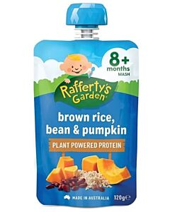 Rafferty's Garden: Brown Rice, Bean & Pumpkin 120g (8+ Months) - 14% OFF!!