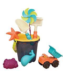 B. Toys: Sands Ahoy! Medium Bucket Sets (Navy/Yellow) - 15% OFF!!