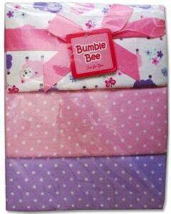 Bumble Bee: 3pcs Receiving Blanket (Purple Sheep) - 30% OFF!!