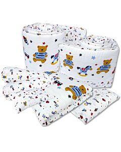 Bumble Bee: 7pcs Crib Bedding Set (Knit Fabric) - Fun Times - 37% OFF!