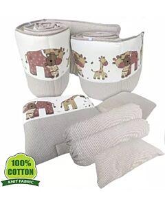 Bumble Bee: 7pcs Crib Bedding Set (Knit Fabric) - Stripes - 37% OFF!