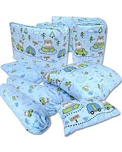 Bumble Bee: 7pcs Crib Bedding Set (Knit Fabric) - Bear's Trekking Trip - 37% OFF!