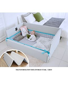 GGUMBI: 3 in 1 Transformation Bed - World Star (Grey) - 15% OFF!!