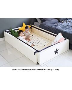 GGUMBI: 3 in 1 Transformation Bed - World Star (Ivory) - 15% OFF!!