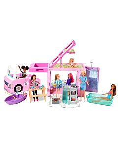 Barbie® 3-in-1 DreamCamper™ Vehicle with Pool, Truck, Boat and 60 Accessories (3Y+) - 15% OFF!!