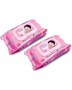 Care Mo Fragrance Free Wipes Lid 80's x 2