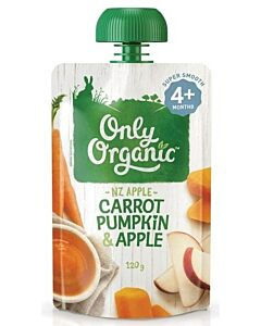 Only Organic: Carrot Pumpkin & Apple 120g - 10% OFF!!