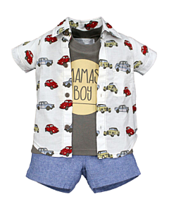 Wonder Child Collection: Classic Cars - Shirt/Top/Shorts (12 - 18 Mths) - 10% OFF!