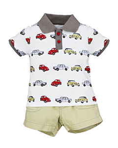 Wonder Child Collection: Classic Cars - Polo & Shorts (18 - 24 Mths) - 10% OFF!