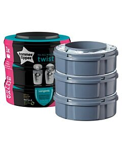 Tommee Tippee: Sangenic Twist and Click Cassettes (3-pack) - 15% OFF!!