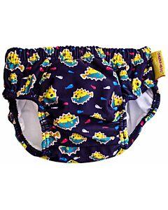Cheekaaboo Swim Diaper - Light Blue / Puffer Fish - S (0-12m) - 44% OFF!