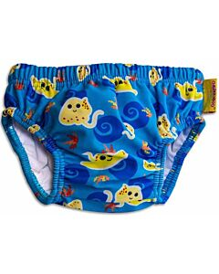 Cheekaaboo Swim Diaper - Navy Blue / Stingray - S (0-12m) - 44% OFF!