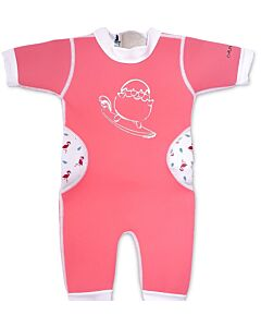 Cheekaaboo Warmiebabes Suit - Salmon Pink/Flamingo - L (18-30M) - 20% OFF!!