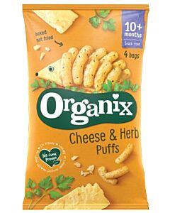 Organix Goodies Cheese & Herb Puffs 4x15g (12+ Months)