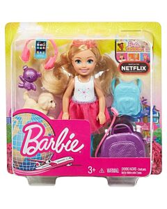 Barbie® Chelsea Travel Doll   Blonde, with Puppy, Carrier & Accessories (3Y+) - 10% OFF!!