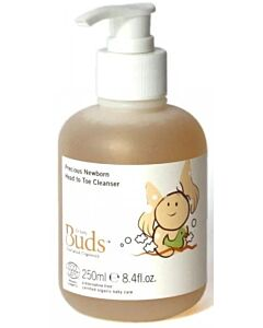 Buds Cherished Organics: Precious Newborn Head To Toe Cleanser 250ml - 15% OFF!