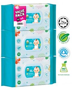 Chomel Baby Wipes | 100 Sheets x 3 (Triple pack) - 20% OFF!!