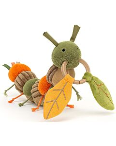 Jellycat: Christopher Caterpillar Activity Toy (12cm)