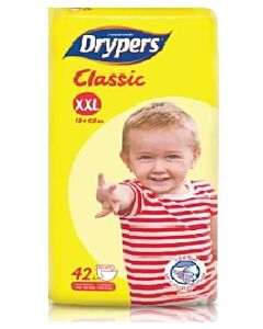 Drypers Classic XXL42 (15 - 25kg) - Family Pack