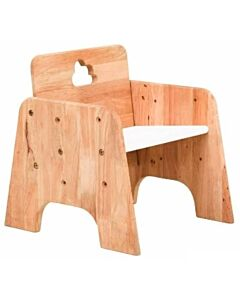 Funbies: Cloud 9 Wooden Stool Chair (Natural + White) - 5% OFF!!