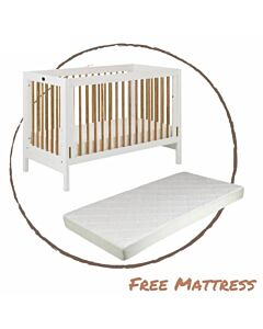 Funbies: Clover Baby Cot (White) - 5% OFF!!