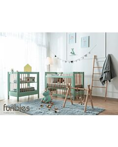 Funbies: Clover Series (Clover Baby Cot + Clover Changing Table + Mattress + Mosquito Net) - Soft Green - 5% OFF!!