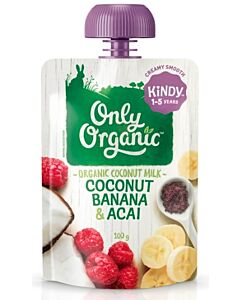 Only Organic: Coconut, Banana & Acai 100g (1-5 Years) - 10% OFF!!